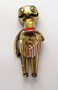 man in top hat pin
