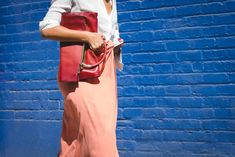 42 Must-Have Bags Seen At New York Fashion Week #refinery29  http://www.refinery29.com/2015/09/94190/cute-handbags-fashion-week-street-style#slide-36  A rose by any other name would still look this good....