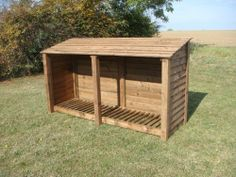 XL DOUBLE 4FT WOODEN LOG STORE/GARDEN STORAGE, BROWN, HEAVY DUTY, HAND MADE, PRESSURE TREATED, NATIONWIDE DELIVERY. by Rutland County Garden Furniture, http://www.amazon.co.uk/dp/B005SS6GYS/ref=cm_sw_r_pi_dp_jGgdtb1SGC389