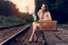 Woman On Railway Station by Andrea Carretta