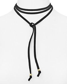 Jules Smith Suede Wrap Choker Necklace, 58""