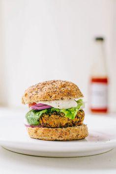 Smokey Sweet Potato & Black Bean Burgers #vegan #glutenfree