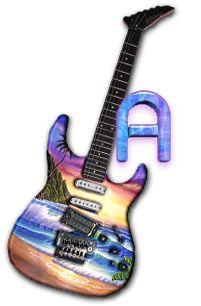 Alfabeto let´s rock! con paisaje en la guitarra. | Oh my Alfabetos!