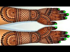 Dulhan Mehndi Designs, Mehndi Images, Hand Henna, Hand Tattoos, Blossoms, Craft Projects, Crafting, Amazing, Youtube