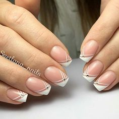 21 Cool and Trendy French Manicure Ideas & Starling Rhinestones Designs picture 1 & are numerous French manicure ideas out there, and if you try to pull all of them off, it will take you several years. You would better start now! French Nails, Glitter French Manicure, French Pedicure, French Manicure Designs, Pedicure Designs, Diy Nail Designs, Nails Design, Nagellack Design, Nagellack Trends