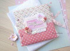 Baby memory book, personalized baby book girl, baby girl photo album, newborn keepsake book, baby book memory, fabric fovered memory book