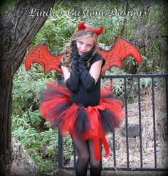 Devil Tutu Red and Black with Red Sequin Accent for Halloween
