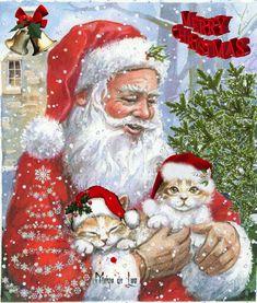 『最後のhospital night』 The last hospital night Merry Christmas Gif, Merry Christmas Pictures, Christmas Scenes, Christmas Animals, Vintage Christmas Cards, Christmas Cats, Christmas Greetings, Winter Christmas, Christmas Wishes