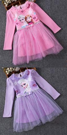 Toddler Girls Frozen Elsa Long Sleeves Sequins Princess Tutu Dress Girl Tutu, Princess Tutu, Tutus For Girls, Elsa Frozen, Toddler Girls, Diy Fashion, Cute Dresses, Designer Dresses, Harajuku