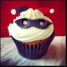 Harley quinn cupcake idea