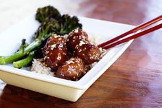 Sesame orange meatballs.  I wanted to make meatballs for dinner the other day but I wasn't in the mood for my usual meatballs and gravy, and kept coming up short on new ideas…    These sweet, savory, asian meatballs would also be great made with ground turkey or chicken!  Sesame