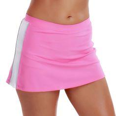 La Isla Damen Sport Skort Hosenrock - Mit Integrierter Sporthose Tennisrock Hot Pink 36