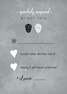 halloween wedding invitations   Halloween Wedding Invitations - Fancy Skulls Gray Halloween Wedding ...