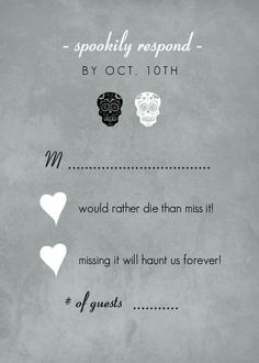 halloween wedding invitations | Halloween Wedding Invitations - Fancy Skulls Gray Halloween Wedding ...
