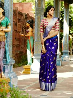 Intresting# colours# blouse and saree