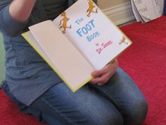 """The Foot Book"" by Dr. Seuss and some footprint painting..."