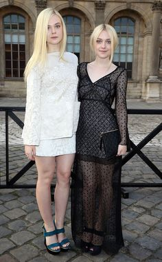 Dakota and Elle Fanning #sisters #familyfashion