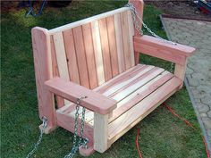 How to Build a Freestanding Arbor Swing : Really like this swing rounded edges comfortable!