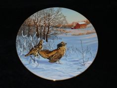 """1991 W.S. George Field Birds of North America """"In Display: Ruffed Grouse"""" Collector Plate by Darrell Bush by ThePlateHutchII on Etsy"""