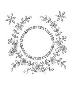 vintage floral frame pattern.