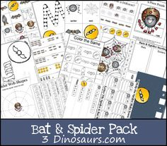 Free Bat & Spider Pack: Awesome Free Printables for Kindergarten & Preschool.