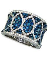 Bella Bleu by Effy Collection 14k White Gold Ring, White and Caribbean Blue Diamond (2-3/8 ct. t.w.)