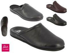 4cfbdc0efd0 Beck-Ups Genuine Leather Men s Slippers Jurgen Mules Nicklas Indoor Finn  EUR 42