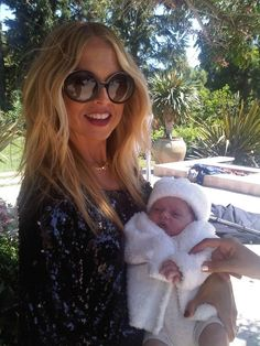 possibly the most glam mom of all time, rachel zoe with baby skyler who shares the same bday a year later as my son!!!