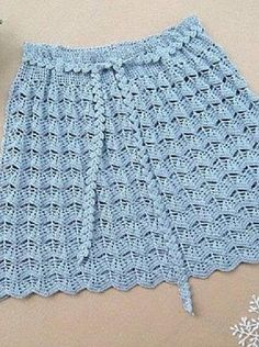 The pattern for the skirt crochet