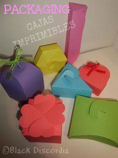 Cajas imprimibles Blog, Packaging, Printables, Crates, Creativity, Blue Prints, Manualidades, Wrapping