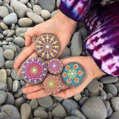 nice Çakıl taşları boyama fikirleri ile evinizi süsleyin!