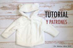 Patrones abrigo de osito para niños (gratis hasta talla 7 años) Kids Dress Patterns, Little Girls, Kids Outfits, Baby, Coat, Jackets, Clothes, Dresses, Videos