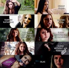 Just love this picture elena, katherine, amara and silas