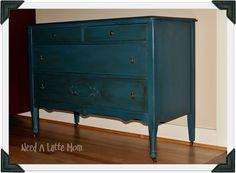 annie sloan aubusson blue | Aubusson Blue, Oh Aubusson Blue.