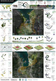 View full picture gallery of Memoria De Agua - ConvivE XI Landscape Architecture Design, Architecture Visualization, Landscape Plans, Landscape Architects, Singapore Architecture, Project Presentation, Presentation Layout, Presentation Boards, Arquitectura Logo