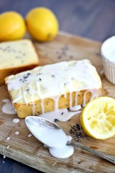 Lemon Lavender Greek Yogurt Pound Cake