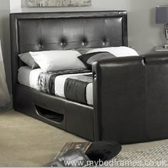 Royale Faux Leather #TV #Bed - #Bedroom #Design