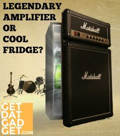 The Marshall Fridge is a unique and innovative product that brings rock and roll history down from the stage and into the homes of fans around the world. Jim Marshall, Rock And Roll History, Noise Cancelling Earbuds, Audio Music, Pinterest Projects, Cool Inventions, Audio Equipment, Keep It Cleaner, Refrigerator