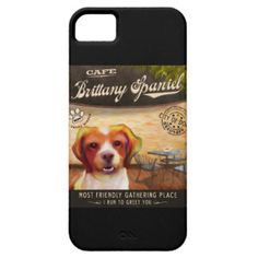 Brittany Spaniel Dog Art Poster–I Run To Greet You iPhone 5 Covers
