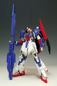 MODELER: Ziggy   MODEL TITLE: Zeta Gundam Wave Shooter Equipment Type  MODIFICATION TYPE: conversion build, custom paint job, custom decals...