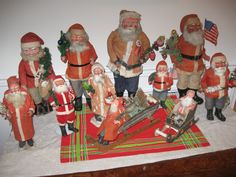 Antique Santa Claus Candy Containers from Germany.