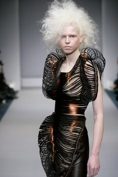 Futuristic Armour Dress - sculptural fashion; conceptual fashion design // Iris van Herpen