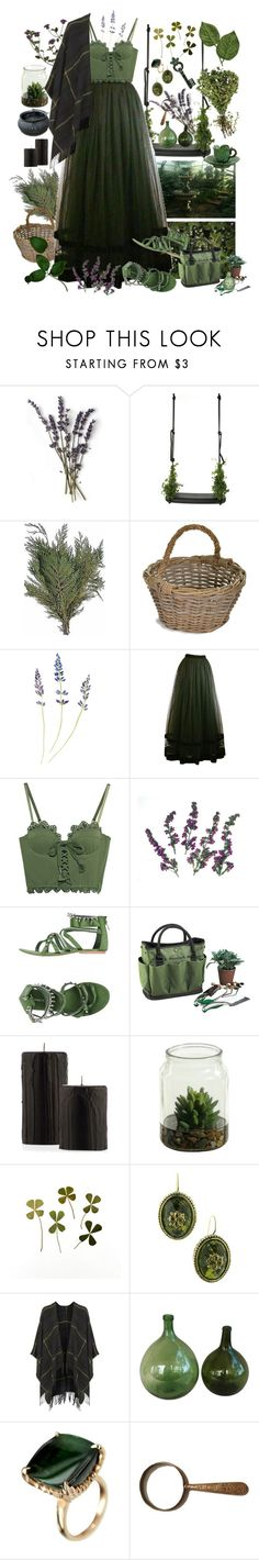 """walking in the garden"" by pastellilapsi ❤ liked on Polyvore featuring Droog, Garden Trading, Seraphina, Kay Unger New York, Puma, Josa Tulum, MET, Picnic at Ascot, 1928 and Topshop"