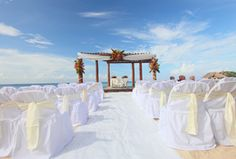 Playa Azul - Cozumel Wedding Ceremony by beach. I could be okay with this if our parents could be there.