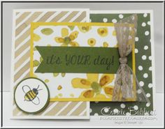 Garden in Bloom, Stampin Up, #stampinup, Joy Fold card, created by Connie Babbert, www.inkspiredtreasures.com