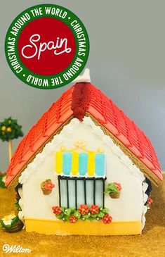 We've invited our international distributors to join in our holiday celebrations by decorating a gingerbread house for the holidays! Check out this house from Rosa Escribano and Sonia Rincón of Spain! #gingerbreadhouse #christmas #wiltoncakes