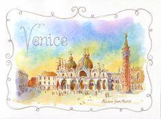 Sketchbook Journeys - Italy: Piazza San Marco, Venice + Step-by-Step (Leslie Fehling)