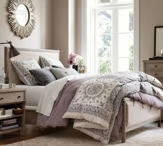Washed Cotton with Lace Duvet Cover & Sham