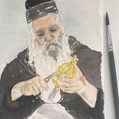 Jew, watercolor