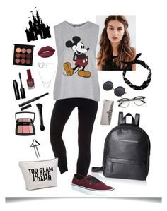 """Disney Time"" by laura-rathbone on Polyvore featuring REGALROSE, NIKE, Topshop, Vans, Danielle Nicole, Nanette Lepore, New Look, Disney, MAC Cosmetics and Lime Crime"